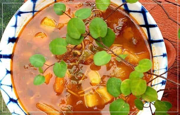 מרק עדשים ירקות ובקר